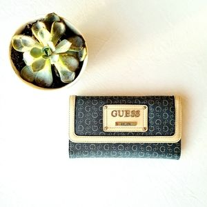 GUESS WALLET NEW BLUE & BROWN